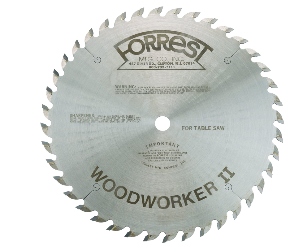 Forrest T20779 - Woodworker II Square Cut Blade