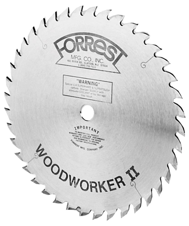 Forrest WW10407125 Woodworker II 10-Inch 40 Tooth ATB 125 Kerf Saw Blade with 5 8-Inch Arbor