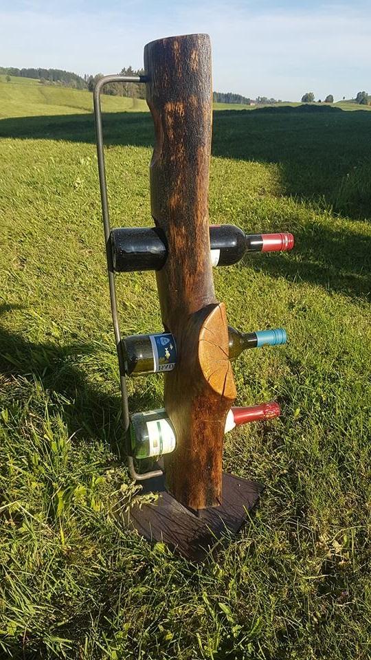 Wine stand-wood