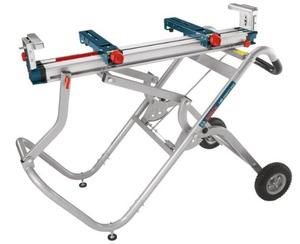 BOSCH Portable Gravity Rise Wheeled Miter Saw Stand T4B