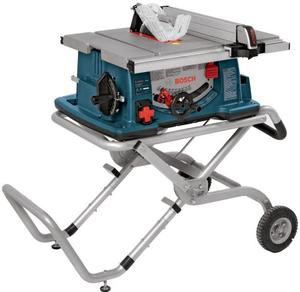 Bosch 10 Inch Worksite Table Saw 4100 09 with Gravity Rise Wheeled Stand; Portable Table Saw (Discontinued by Manufacturer)