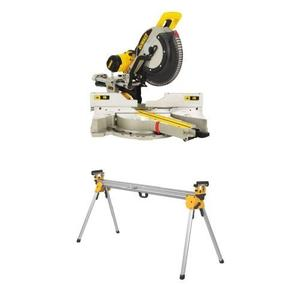 DEWALT DWS780 12 Inch Double Bevel Sliding Compound Miter Saw w DWX723 Heavy Duty Miter Saw Stand