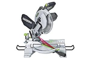 Genesis GMS1015LC 15 Amp 10 Inch Compound Miter Saw with Laser Guide and 9 Positive Miter Stops