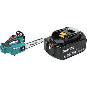 Makita XCU06Z 18 Volt LXT Lithium Ion Brushless Cordless 10 Inch Top Handle Chain Saw BL1850B 18 Volt LXT Lithium Ion 5.0Ah Battery