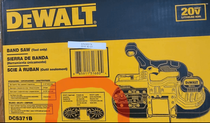 dewalt dcs371b in a box