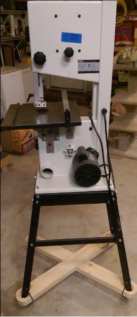 mounted rikon 10-305 band saw