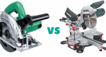 Miter Saw vs Circular Saw: Main Differences and Comparison