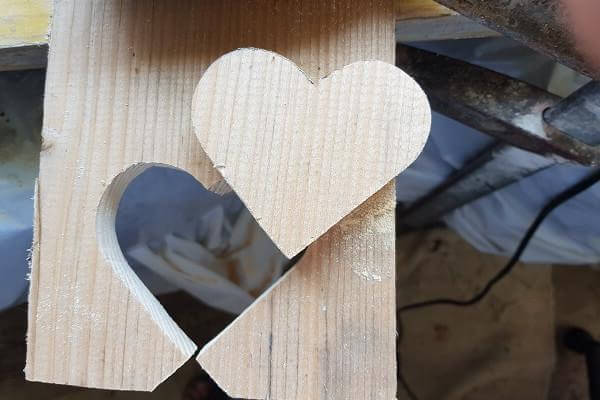 Finished wooden heart