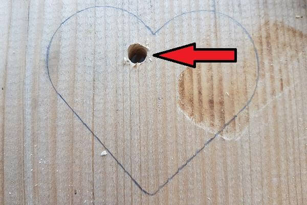 Saw a hole in the heart