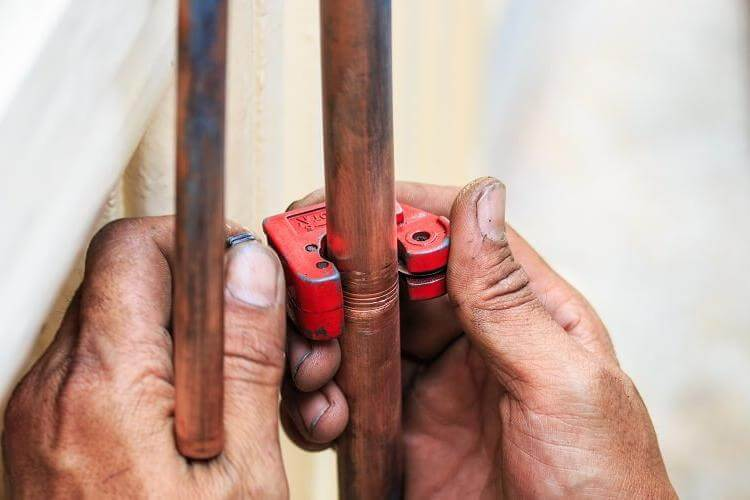 copper pipe pipecutter