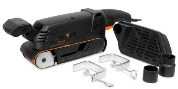 a portable benchtop belt sander