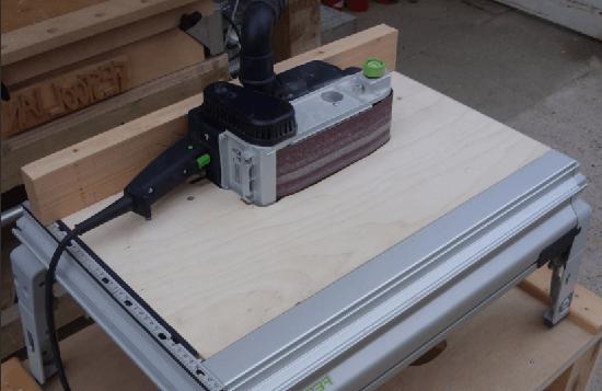 worktable for belt sander